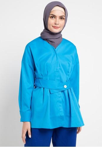 OMARA blue Tiara Blouse A1366AA705EF61GS_1