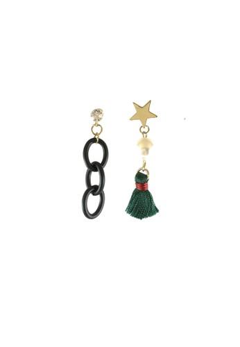 La Miina gold Bonita Asymmetric Earrings EB957ACAF148A1GS_1