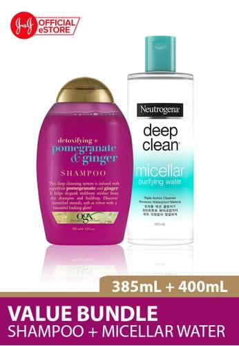 OGX OGX Pomegranate Ginger Shampoo 385ml + Neutrogena Deep Clean Purifying Micellar Cleansing Water 400ml 07FF1BE5A5A784GS_1