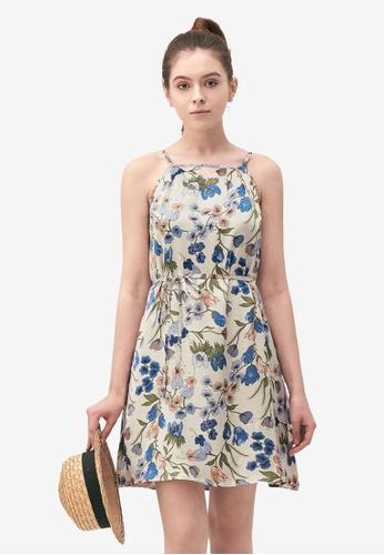 Kodz white Wildflower Halter Neck Dress 258AAAAD7C18C6GS_1