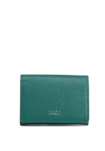 Enjoybag green Flynn Smart`s Pebble Grain Leather Card Holder EN763AC2UOX2HK_1
