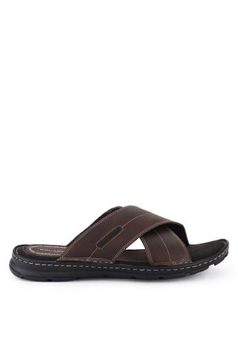 Rockport brown Darwyn Slide Sandal 2CD6ASHD074FCEGS_1