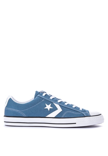 Converse blue Star Player Canvas Sneakers 9FAF8SHB0D09ACGS_1