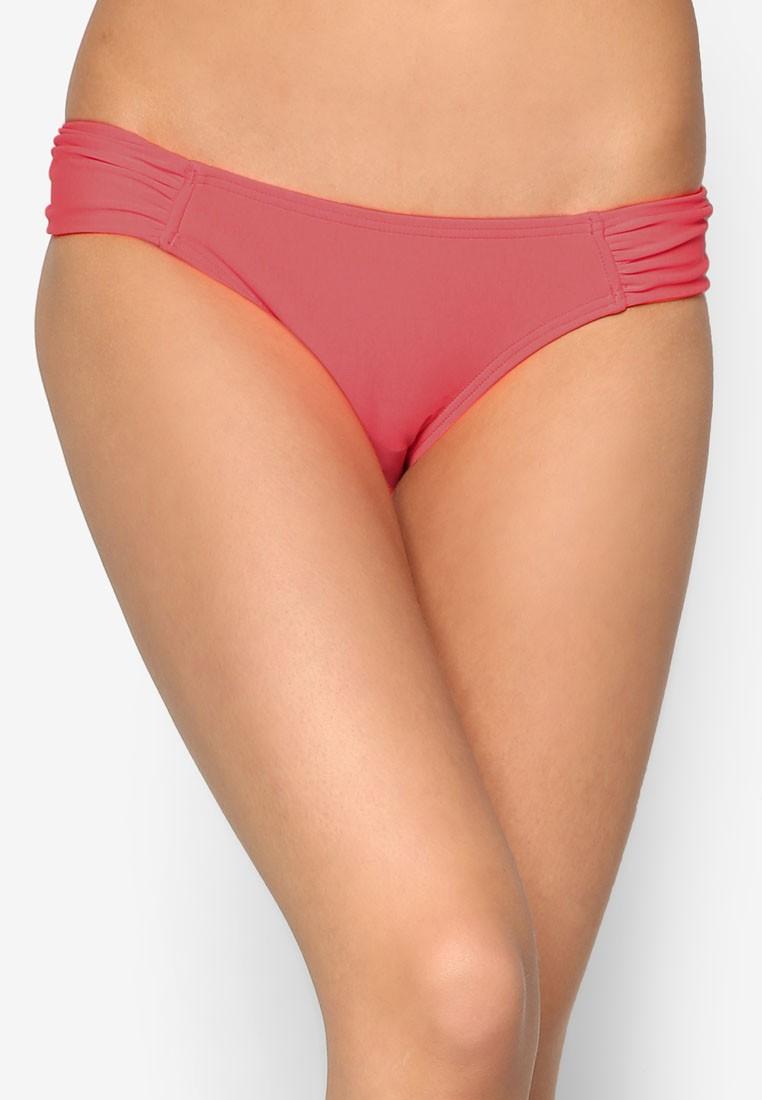 Solid Separates Gathered Side Bikini Bottom