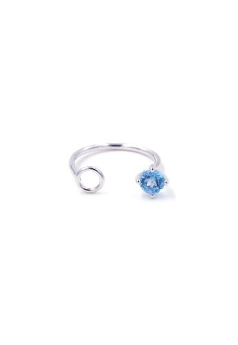 Jewcells blue TRYNGO Birthcells Decemeber Ring JE724AC2W98AHK_1