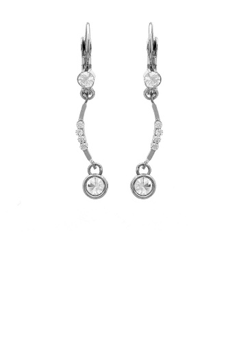 Glamorousky silver Glistening Earrings with Silver Austrian Element Crystals 7907FACE2ECC72GS_1