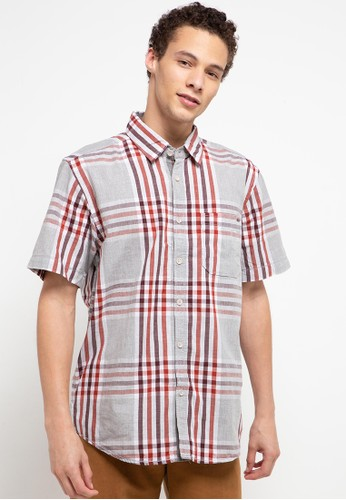 Watchout! Casual red Short Sleeve with Collar 54239AA6D958CFGS_1