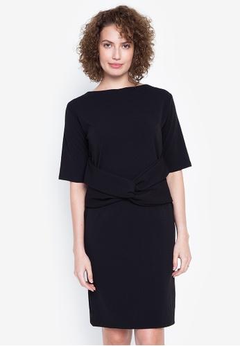 RUESALIDOU black Bernadeth Dress 39BFFAAA7DDBE1GS_1
