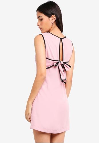 ZALORA pink Back Bow Detailed Dress 38E7DAAEEC73BFGS_1