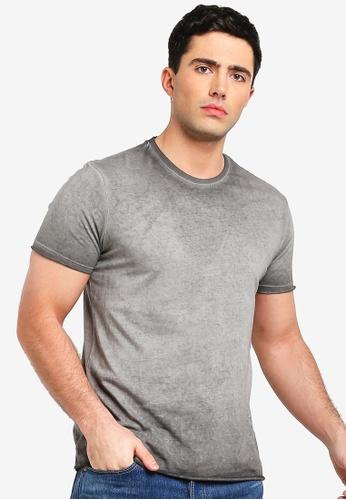 Topman 灰色 短袖品牌刺繡T恤 02F3EAA9BD45A8GS_1
