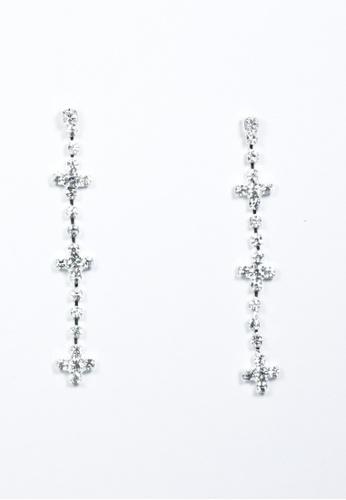 HEY SWEETY silver Crystal Drop Earrings MO303AC96WYPPH_1