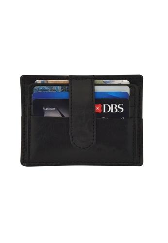 Oxhide black Leather Card Holder -Leather Card Case - Leather Card Pouch Oxhide AS4 BLACK F83DBAC0130A72GS_1
