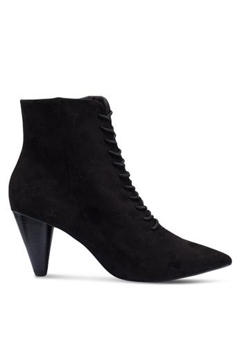 MANGO 黑色 綁帶踝靴 C9345SHD9F7378GS_1