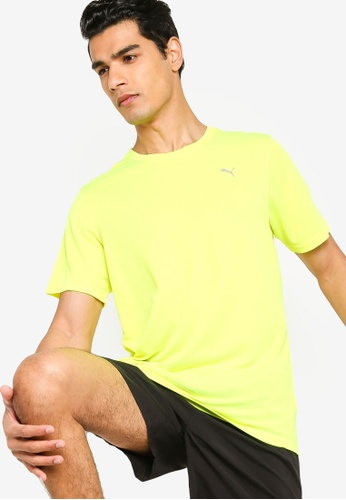PUMA yellow Performance Men's Training Tee BCB30AA213B3B8GS_1
