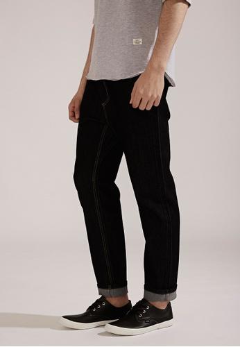 Life8 Classic Comfort Elastic Denim Pants-02401-Black LI283AA0FFGJSG_1