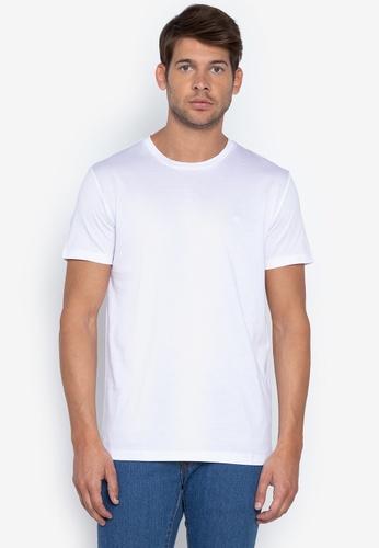 Calvin Klein white Men's Basic T-Shirt D7CFEAA9C5094FGS_1