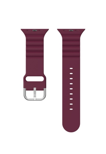 Kings Collection red Burgundy Silicone Apple Watch Band 42MM / 44MM (KCWATCH1067) 8ACBBAC626EF15GS_1