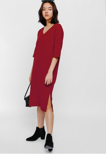Love Bonito red Westerley Slit Midi Dress 7D535AA8EB5EE0GS_1