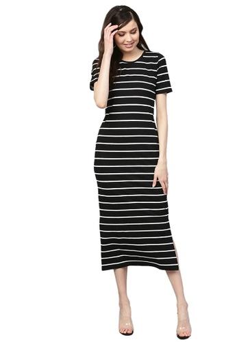 SASSAFRAS black Black White Stripe Maxi 03052AADC91910GS_1