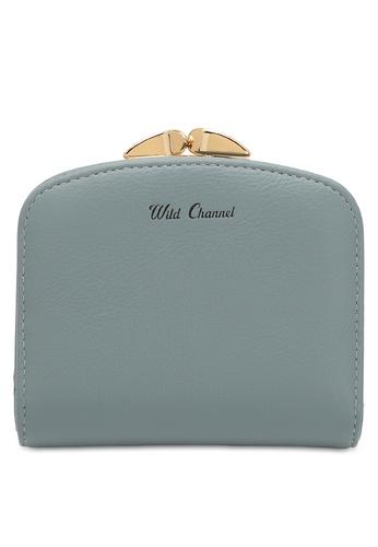 Wild Channel blue Women's Bi Fold Wallet 7632EACEC97C45GS_1