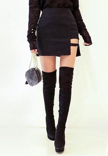 環扣H字裁剪迷你短裙, 服飾,esprit 香港 迷你裙