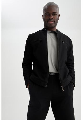 DeFacto black Slim Fit Light Jacket B2ABAAAFC28896GS_1