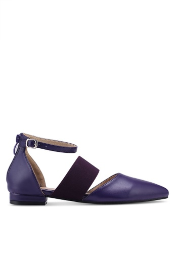 Something Borrowed purple Pointed Ballerinas With Ankle Straps D8B9ASH2EBD81CGS_1