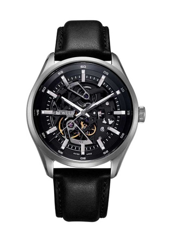 Wulf black Wulf Exo Grey and Black Skeleton Watch D9F25ACEFEE642GS_1