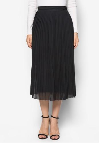 Blzalora 包包 pttack Knife Pleat Midi Skirt, 服飾, 及膝裙