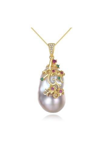 SUNRAIS gold High-grade colorful stone gold fashion necklace FB205AC93E7461GS_1