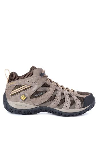 Columbia brown Redmond Mid Waterproof Men's Shoes   CO143SH0KDEYPH_1
