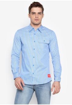 1e3fb5ce Calvin Klein blue Twill Gingham Slim Fit Shirt C6F76AAFB4C292GS_1