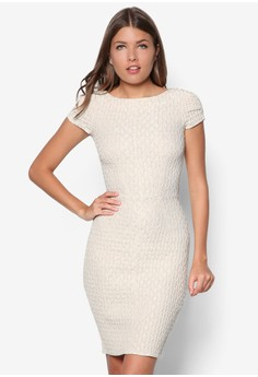 Textured Pencil Dress