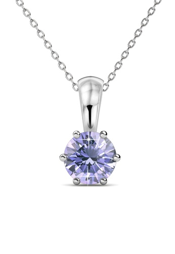 Her Jewellery purple Birth Stone Pendant (June, White Gold) - Made with premium grade crystals from Austria 2C8D9AC0F02B10GS_1