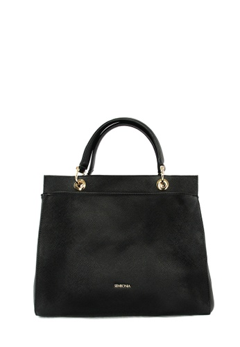 SEMBONIA black SEMBONIA 2-Way Synthetic Leather Tote Bag (Black) SE598AC0S84RMY_1