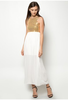 Veronica Sequin Long Dress