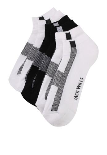Jack Wills white Foxen Trainer Socks 3pk B49ACAA34FEA9CGS_1