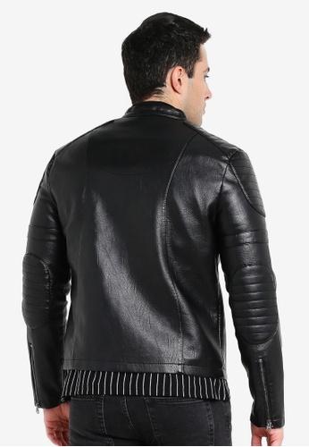836549e57 Faux Leather Racer Jacket