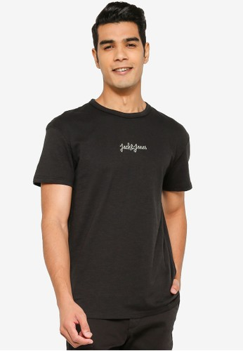 Jack & Jones black Short Sleeve Print T-Shirt 683BAAAFDFD9E6GS_1
