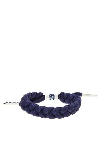 Rastaclat navy Shoelace Bracelet: Indigo RA072AC0JYOIPH_1