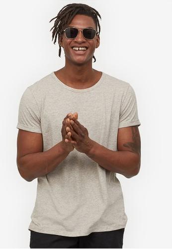 H&M beige Slub Jersey T-Shirt 272B1AA6B18A3CGS_1