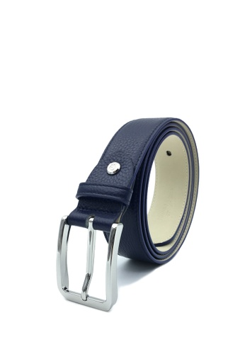 Goldlion blue Premium Casual Pin Belt with Angular Buckle-C 8D8FCAC13A8F33GS_1