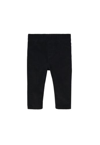 MANGO BABY black Corduroy Trousers F7931KA692BDE8GS_1