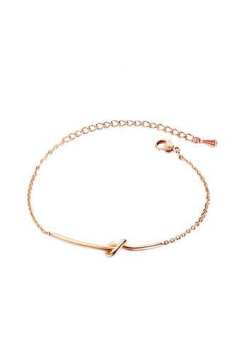 YOUNIQ YOUNIQ Simple Knot Rosegold Slim Bracelet 399B2AC4502C31GS_1