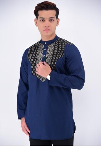 UA BOUTIQUE blue Kurta Batik KLC13-041 (Blue) C5E1CAAB6DA755GS_1