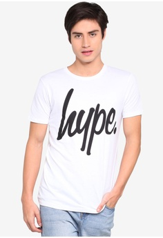 aaa9d109 Just Hype white Hype Black Script T-Shirt 0268DAA71DF9DDGS_1