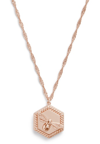 Olivia Burton 金色 Olivia Burton Lucky Bee 18K Rose Gold Women's Necklace  (OBJAMN83) D187FAC6A0CC4FGS_1