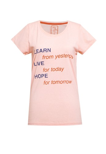 MEIJI-JOY pink Tshirt Kaos Lengan Pendek Print 75108AA8336C5AGS_1