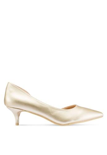 Carlton London 金色 綢緞高跟鞋 37138SH233E788GS_1