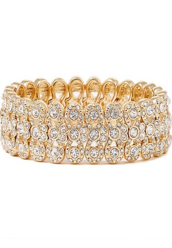 LOVENGIFTS white and gold LOVENGIFTS Prom Night Christmas Party Lucky Bracelet LO429AC57DUCMY_1